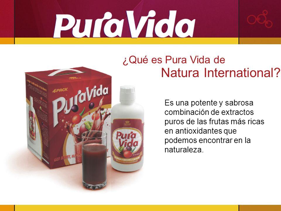 Es una potente y sabrosa combinación de extractos puros de las frutas más ricas en antioxidantes que podemos encontrar en la naturaleza. ¿Qué es Pura