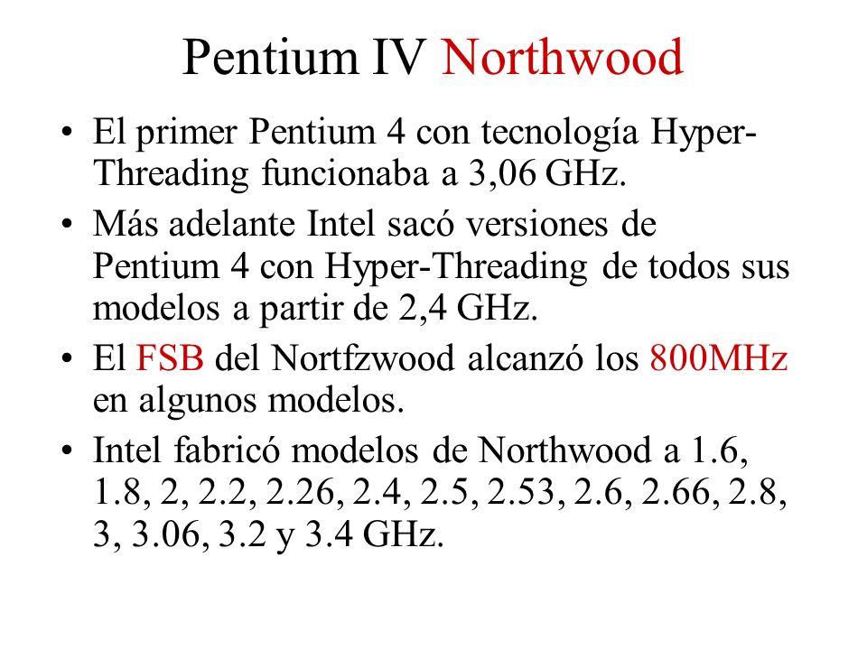 El primer Pentium 4 con tecnología Hyper- Threading funcionaba a 3,06 GHz. Más adelante Intel sacó versiones de Pentium 4 con Hyper-Threading de todos