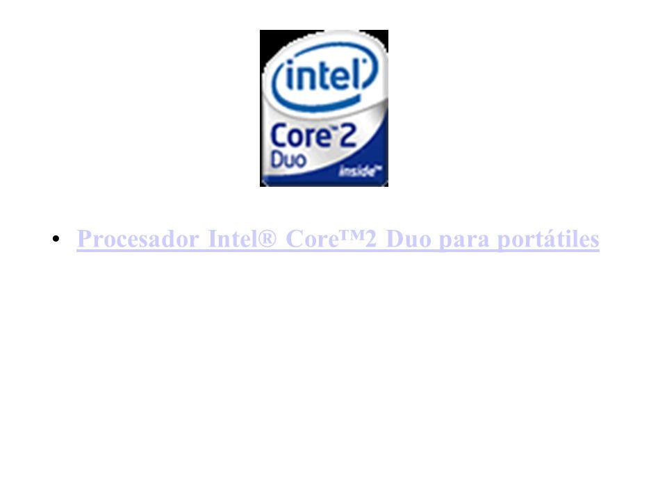 Procesador Intel® Core2 Duo para portátiles