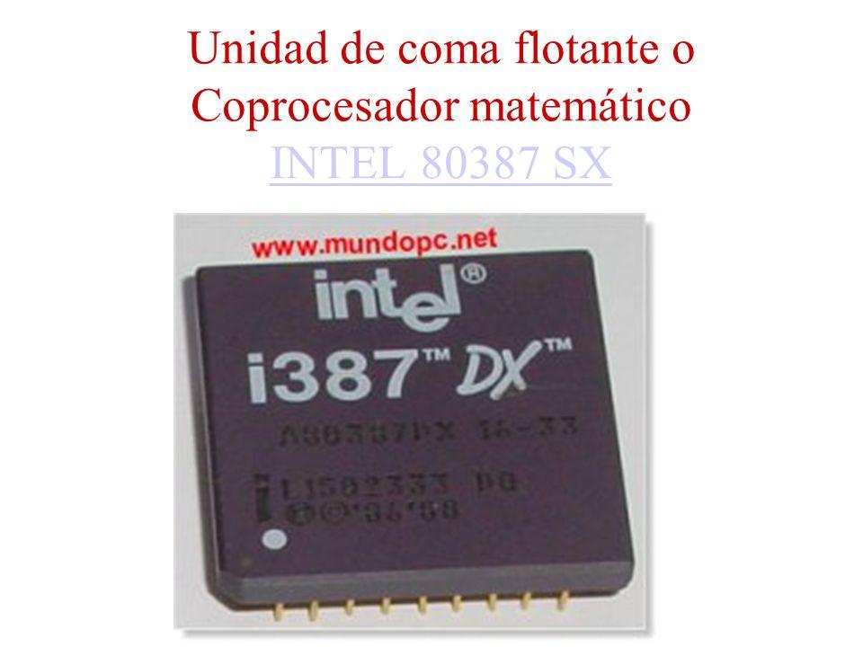 Unidad de coma flotante o Coprocesador matemático INTEL 80387 SX INTEL 80387 SX