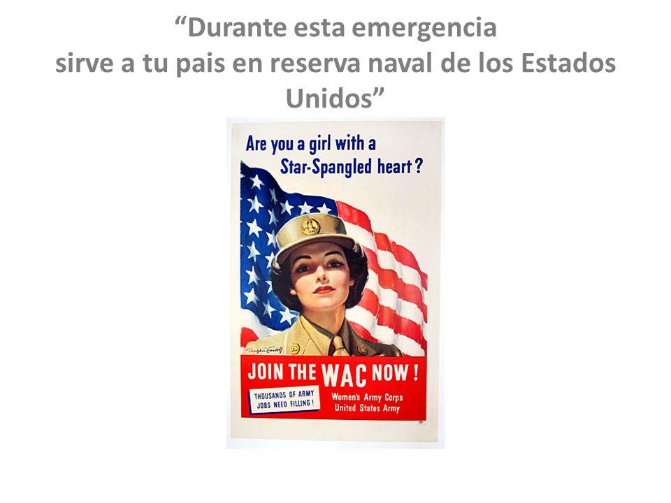 Durante esta emergencia sirve a tu pais en reserva naval de los Estados Unidos