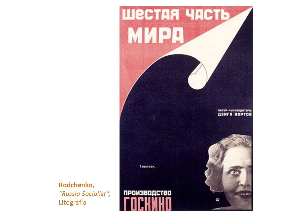 Rodchenko, Russia Socialist, Litografía