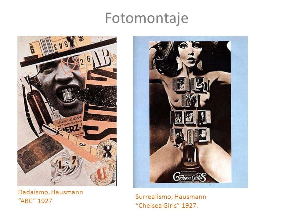 Fotomontaje Dadaísmo, Hausmann ABC 1927 Surrealismo, Hausmann Chelsea Girls 1927.