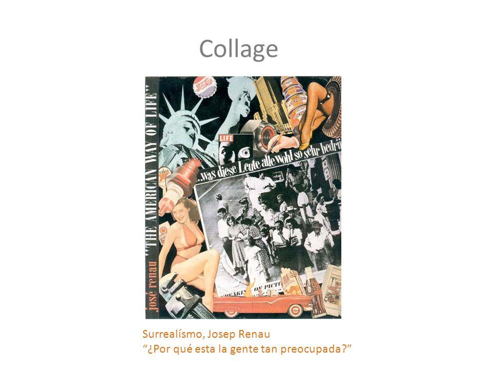 Collage Surrealísmo, Josep Renau ¿Por qué esta la gente tan preocupada?
