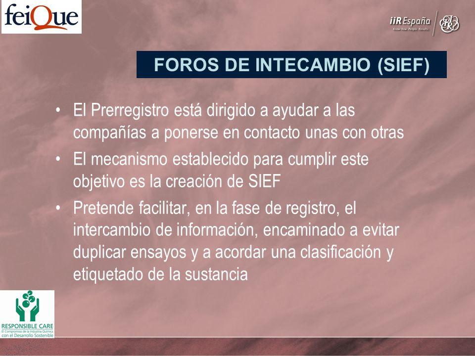 El Prerregistro está dirigido a ayudar a las compañías a ponerse en contacto unas con otras El mecanismo establecido para cumplir este objetivo es la