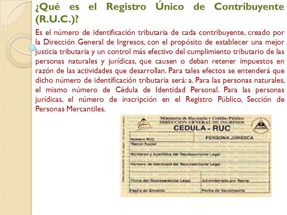 ¿Qué es el Registro Único de Contribuyente (R.U.C.).