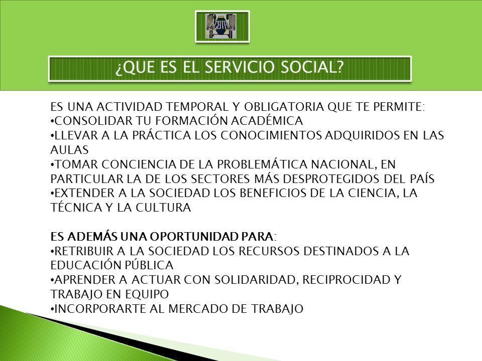 LA DURACIÓN DEL SERVICIO SOCIAL DEBERÁ CUBRIR UN MÍNIMO DE 480 HORAS DE ACUERDO CON LAS CARACTERÍSTICAS DEL PROGRAMA DE TRABAJO, EN UN PERIODO NO MENOR DE 6 MESES NI MAYOR A 2 AÑOS.