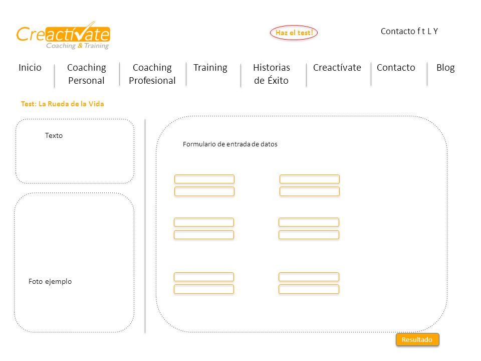 InicioCoaching Personal Coaching Profesional TrainingHistorias de Éxito CreactívateContactoBlog Haz el test! Contacto f t L Y Test: La Rueda de la Vid