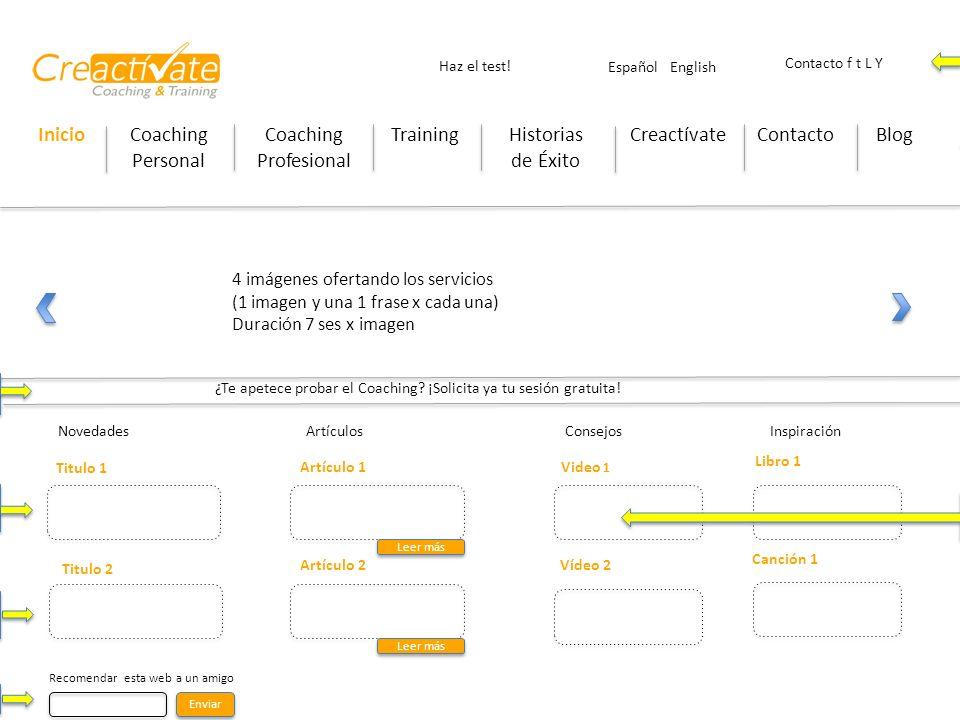 InicioCoaching Personal Coaching Profesional TrainingHistorias de Éxito CreactívateContactoBlog Haz el test! Contacto f t L Y ¿Te apetece probar el Co
