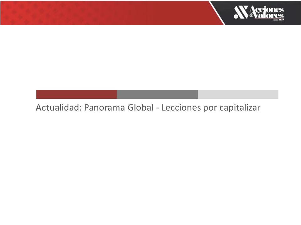 Actualidad: Panorama Global - Lecciones por capitalizar