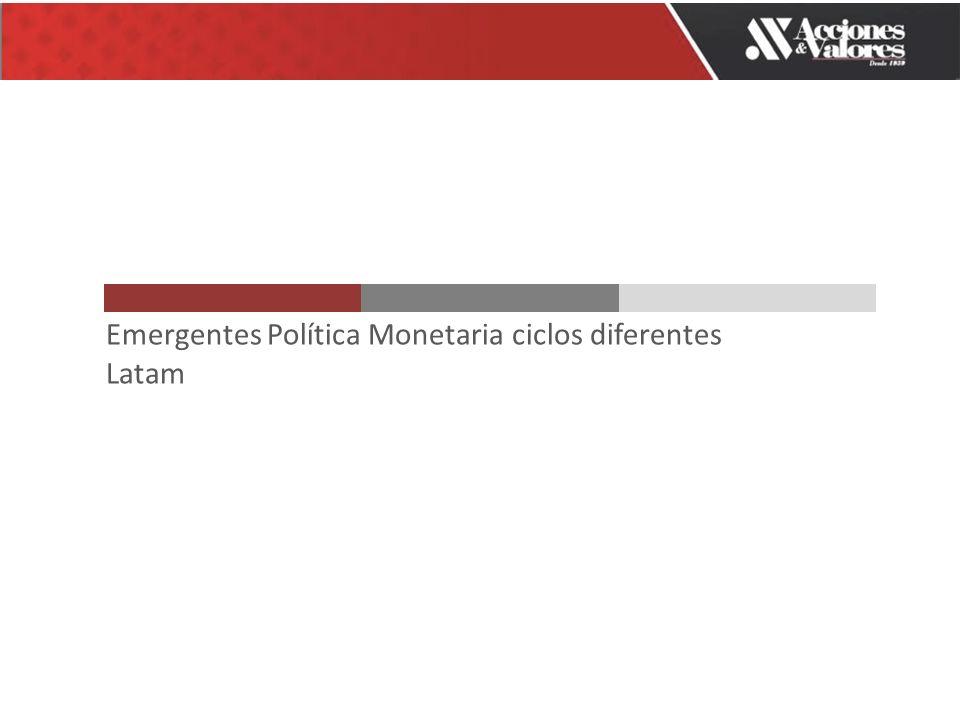 Emergentes Política Monetaria ciclos diferentes Latam