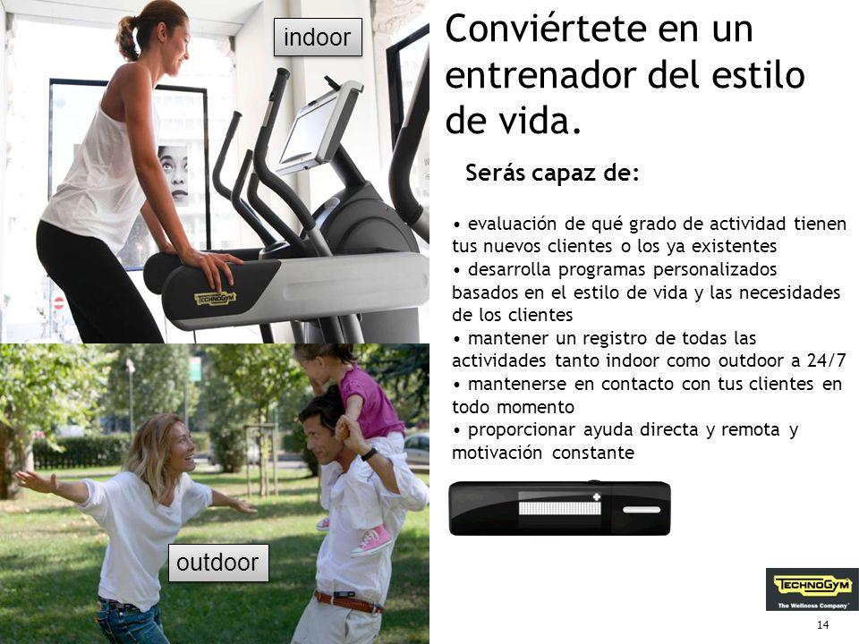 13 Motivar a las personas para ser mas activas. Mywellness key es un dispositivo personal que mide la actividad física diaria, indoor y outdoor, y mot