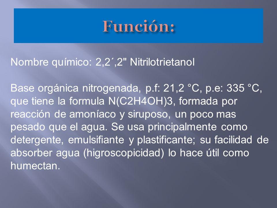 Nombre químico: 2,2´,2