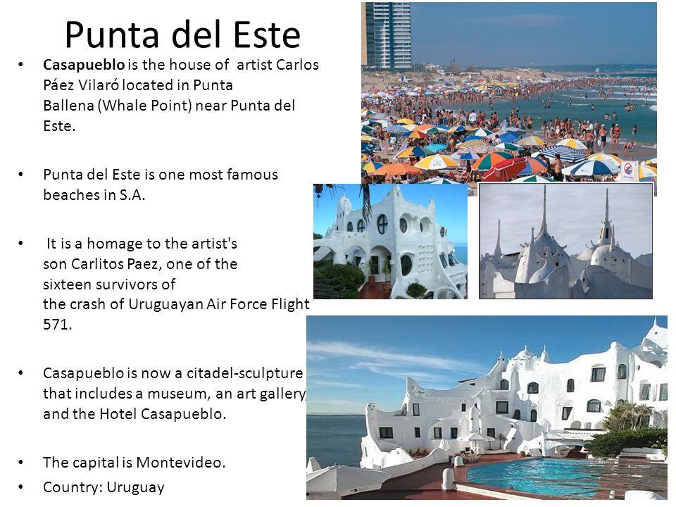 Punta del Este Casapueblo is the house of artist Carlos Páez Vilaró located in Punta Ballena (Whale Point) near Punta del Este.