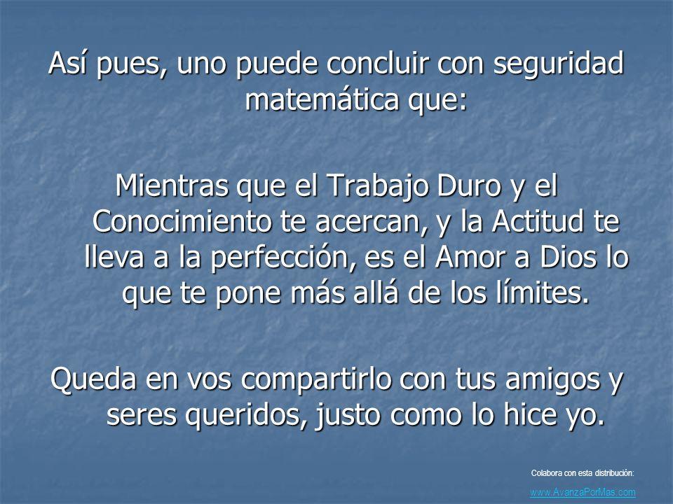 L-O-V-E-O-F-G-O-D (Amor a Dios) 12+15+22+5+15+6+7+15+4 = 101% Colabora con esta distribución: www.AvanzaPorMas.com