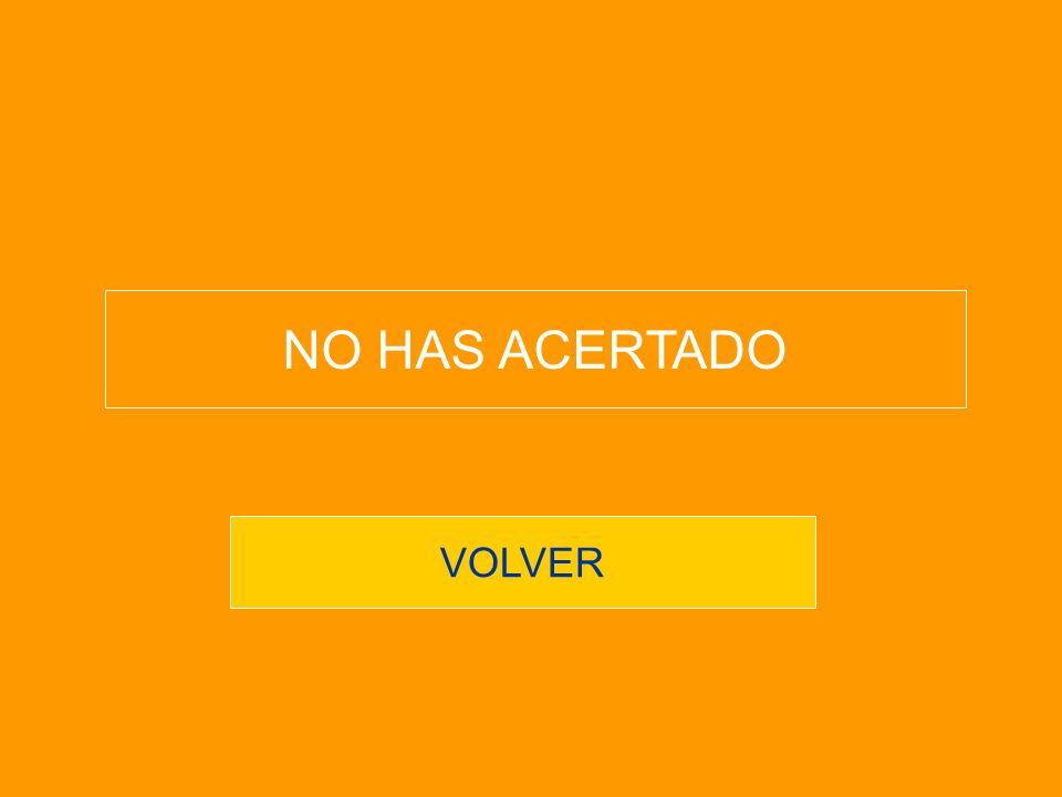 VOLVER NO HAS ACERTADO