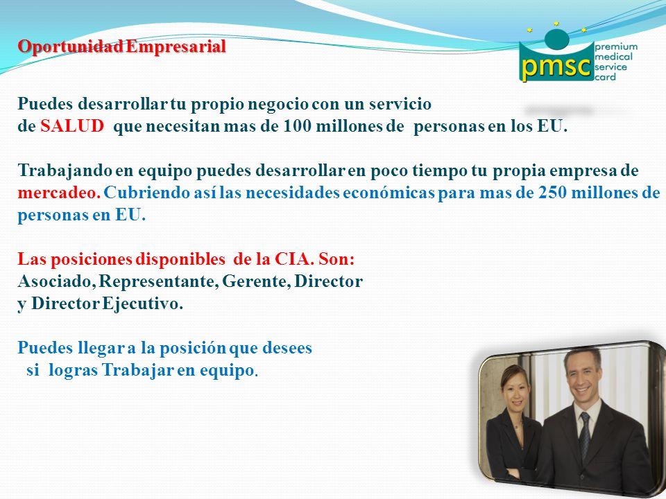 Oportunidad Empresarial Puedes desarrollar tu propio negocio con un servicio de SALUD que necesitan mas de 100 millones de personas en los EU.