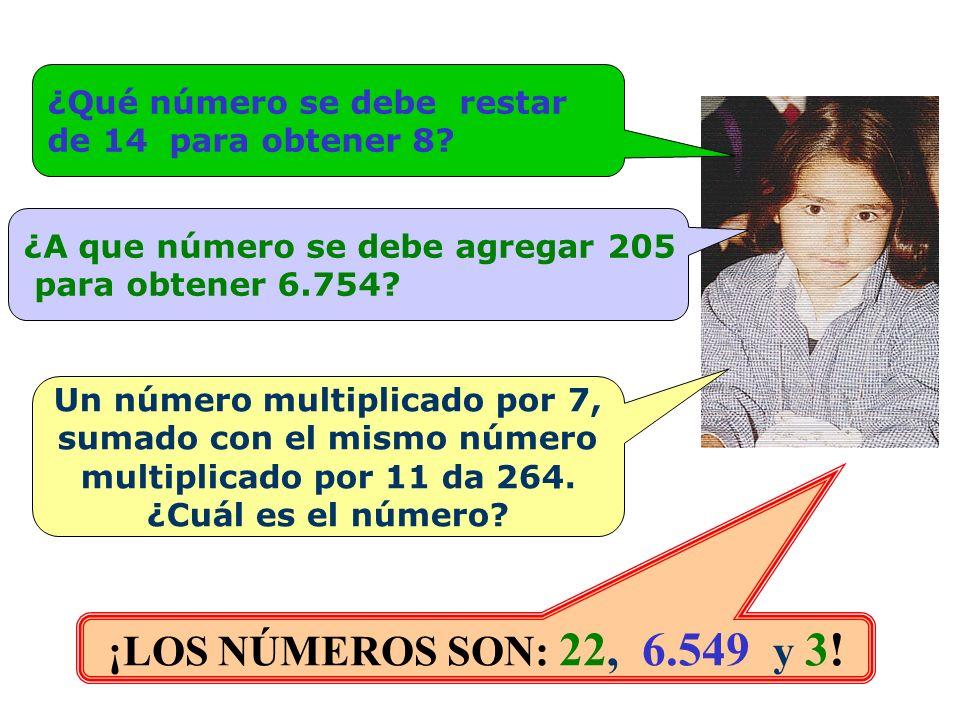 ¿Qué número se debe restar de 14 para obtener 8.