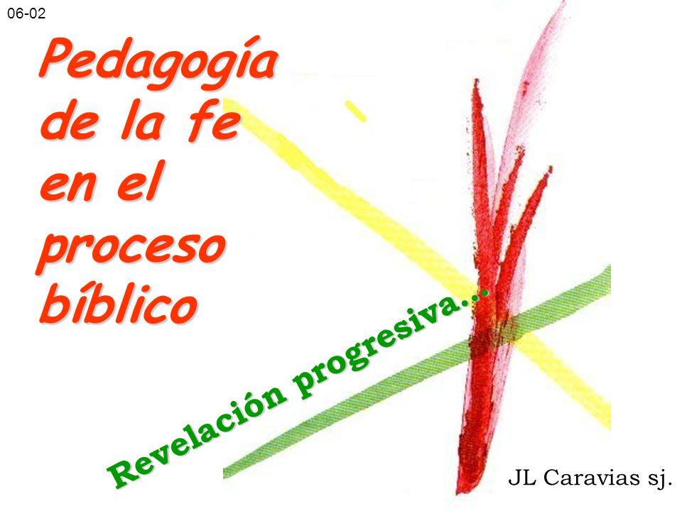 Pedagogía de la fe en el procesobíblico JL Caravias sj. Revelación progresiva… 06-02