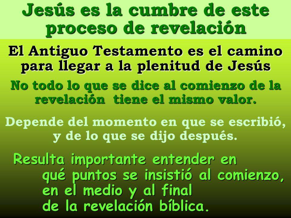 Resulta importante entender en qué puntos se insistió al comienzo, en el medio y al final de la revelación bíblica. Depende del momento en que se escr
