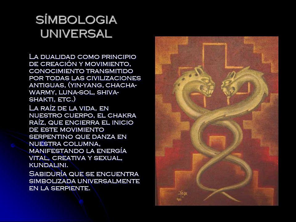 SÍMBOLOGIA UNIVERSAL La dualidad como principio de creación y movimiento, conocimiento transmitido por todas las civilizaciones antiguas, (yin-yang, c