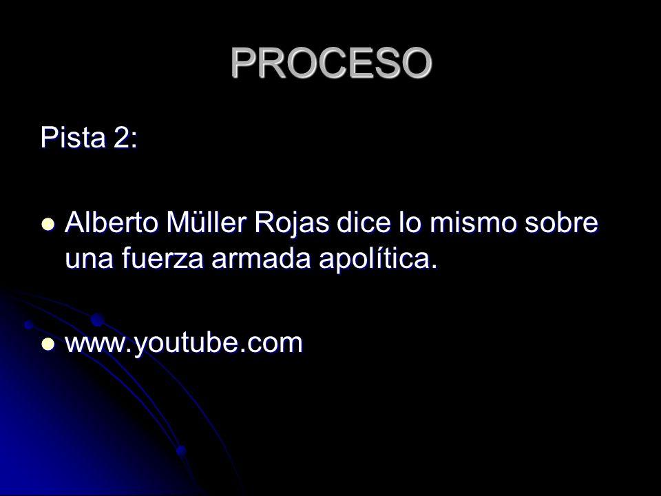 PROCESO Pista 2: Alberto Müller Rojas dice lo mismo sobre una fuerza armada apolítica.