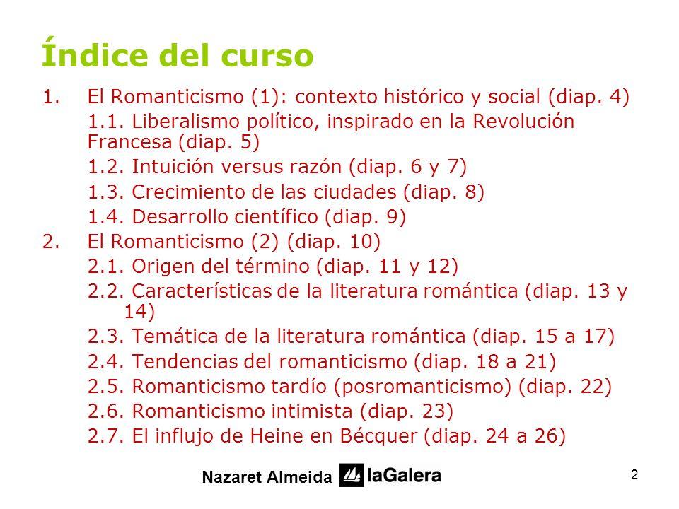 3 Índice del curso 3.Vida y obra de Gustavo Adolfo Bécquer (diap.