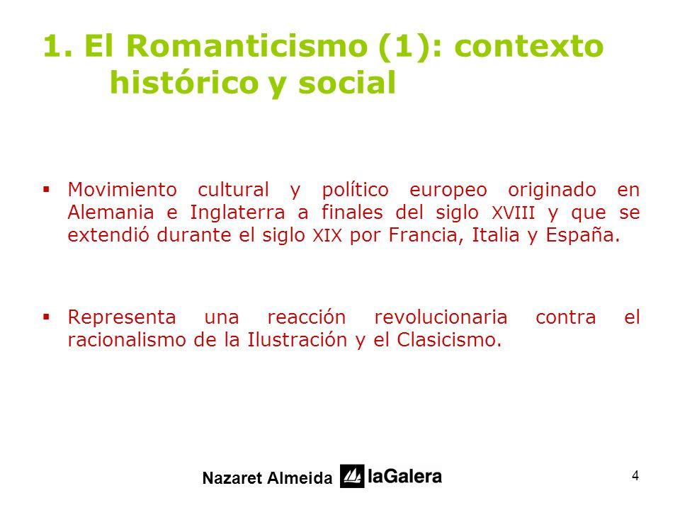 15 2.El Romanticismo (2) 2.3. Temática de la literatura romántica (1) El Yo, la propia intimidad.