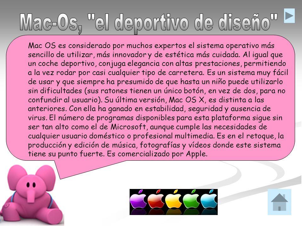 Mac OS es considerado por muchos expertos el sistema operativo más sencillo de utilizar, más innovador y de estética más cuidada. Al igual que un coch