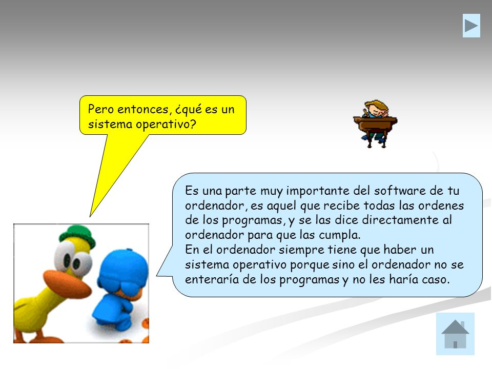 Pero entonces, ¿qué es un sistema operativo? Es una parte muy importante del software de tu ordenador, es aquel que recibe todas las ordenes de los pr