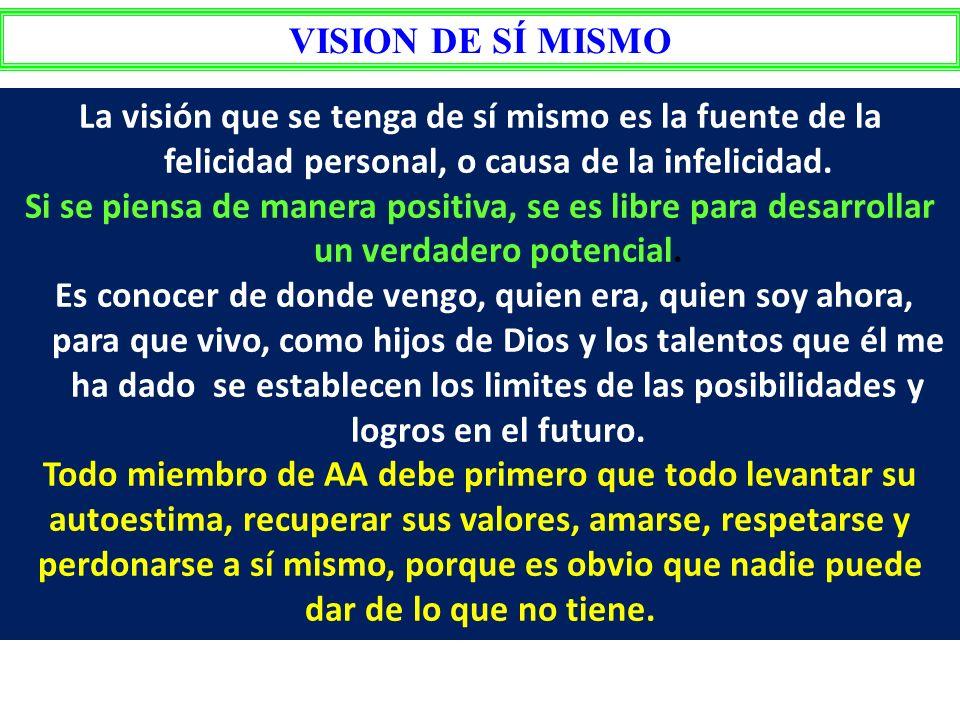 TALLERES DE LIDERAZGO INTEGRAL TALLER I VISION DE SÍ MISMO VISION DE AA VISION DE DIOS