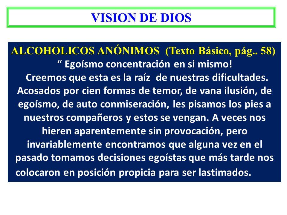 VIDA CONTROLADAD POR EL YO DESEQUILIBRIO ABSOLUTO VISION DE DIOS