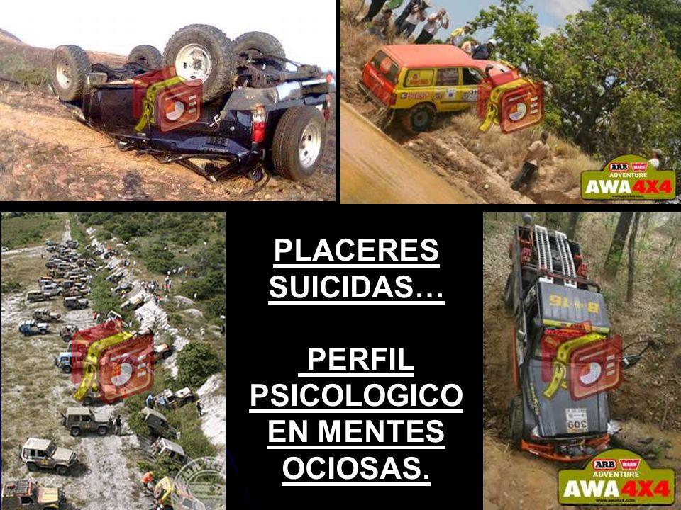 PLACERES SUICIDAS… PERFIL PSICOLOGICO EN MENTES OCIOSAS.