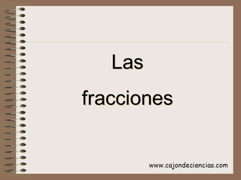 www.cajondeciencias.com Las fracciones Las fracciones