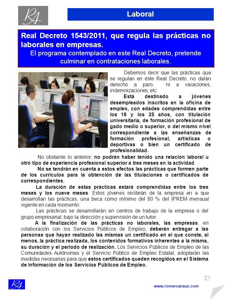 20 www.romeroarauz.com Laboral A partir de enero de 2012, el cabeza de familia será el obligado a dar de alta y cotizar por el empleado de hogar independientemente de las horas que trabaje.