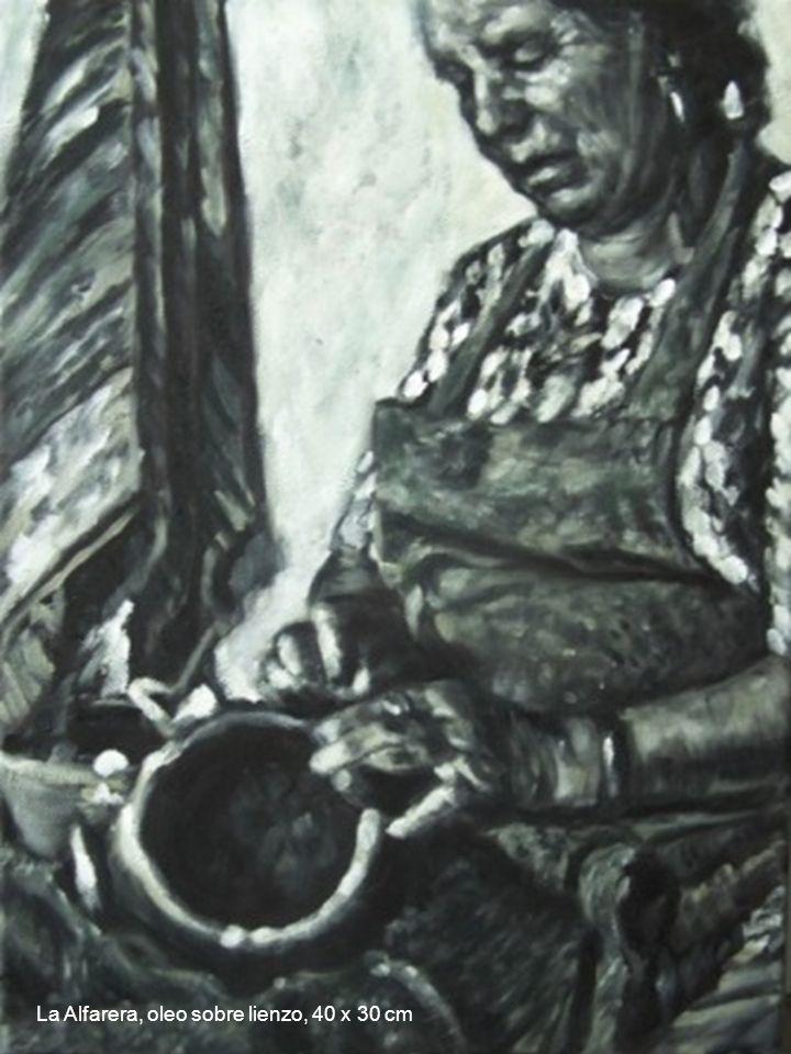 La Alfarera, oleo sobre lienzo, 40 x 30 cm