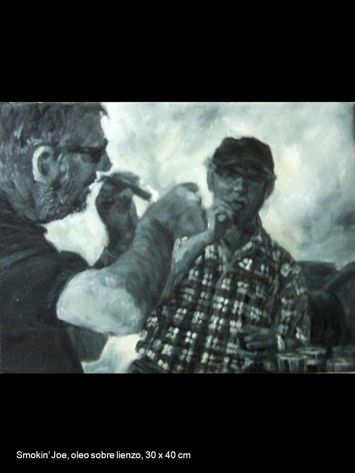 Smokin Joe, oleo sobre lienzo, 30 x 40 cm
