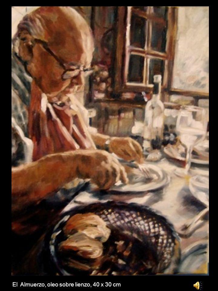 El Almuerzo, oleo sobre lienzo, 40 x 30 cm
