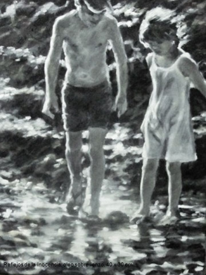 Reflejos de la Inocencia, oleo sobre lienzo, 40 x 30 cm