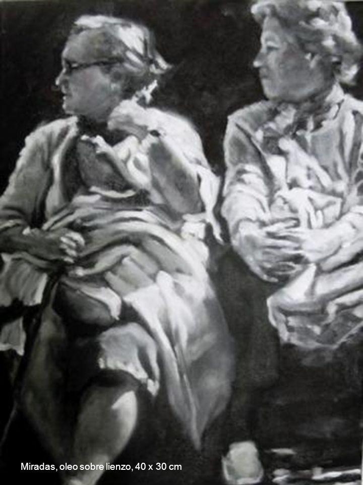 Miradas, oleo sobre lienzo, 40 x 30 cm