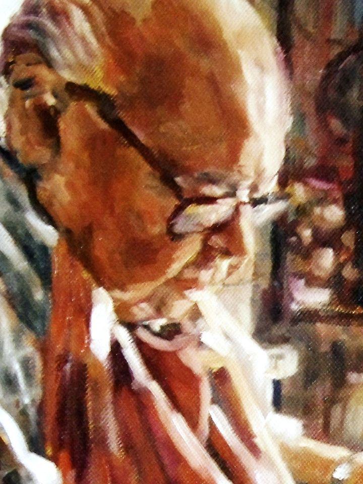 La Espera, oleo sobre lienzo, 40 x 30 cm