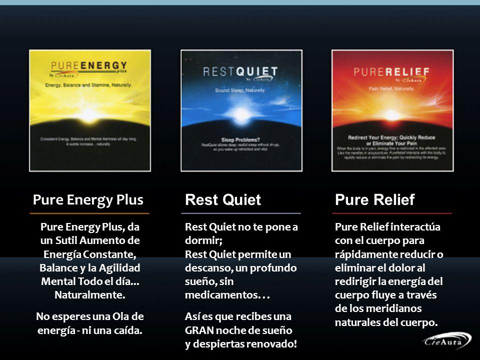 Pure Energy Plus Rest QuietPure Relief Pure Energy Plus, da un Sutil Aumento de Energía Constante, Balance y la Agilidad Mental Todo el día... Natural
