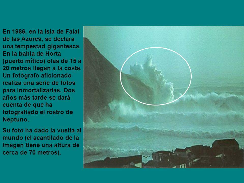 En 1986, en la Isla de Faial de las Azores, se declara una tempestad gigantesca.