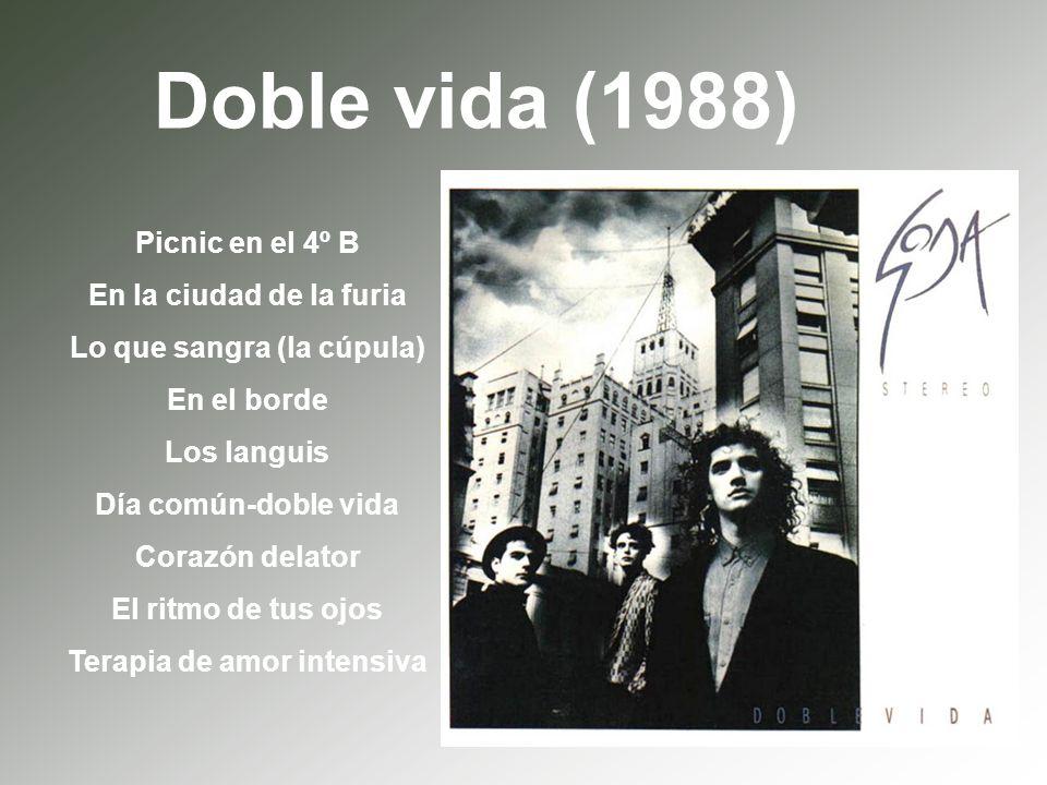 Doble vida (1988) Picnic en el 4º B En la ciudad de la furia Lo que sangra (la cúpula) En el borde Los languis Día común-doble vida Corazón delator El