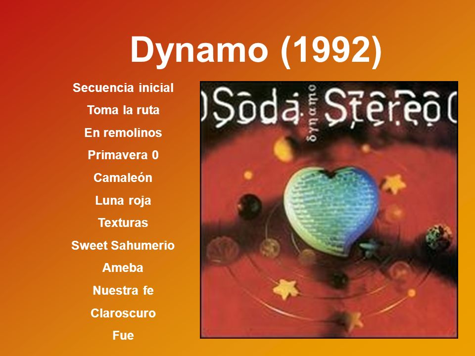 Sueño Stereo (1997) Ella usó mi cabeza como un revolver Disco eterno Zoom Ojo de la tormenta Efecto doppler Paseando por Roma Pasos Ángel eléctrico Crema de estrellas Planta X-Playo Moirè