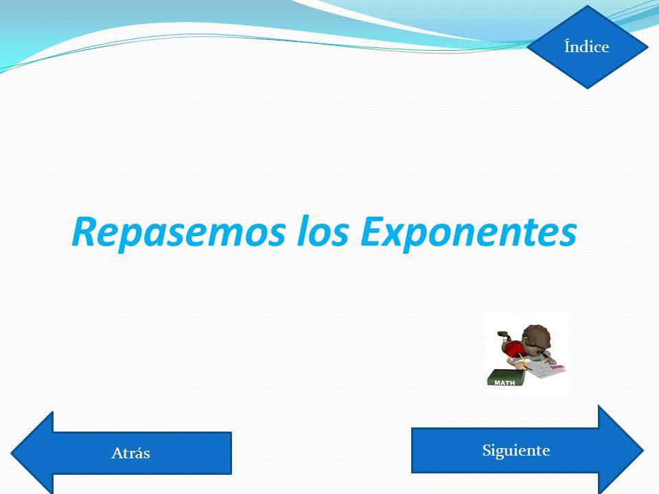 ¿Qué pasa si el exponente es 1 o 0.