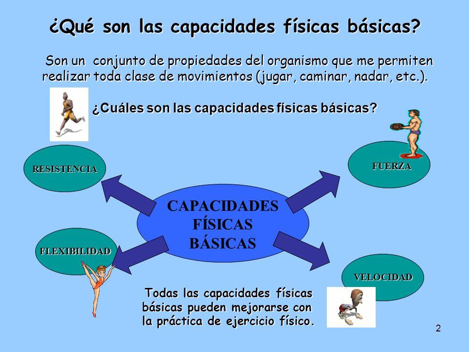 2 Todas las capacidades físicas básicas pueden mejorarse con la práctica de ejercicio físico.