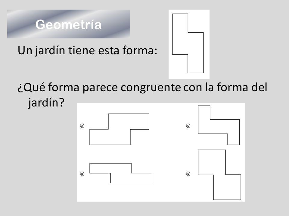 Geometría Un jardín tiene esta forma: ¿Qué forma parece congruente con la forma del jardín?