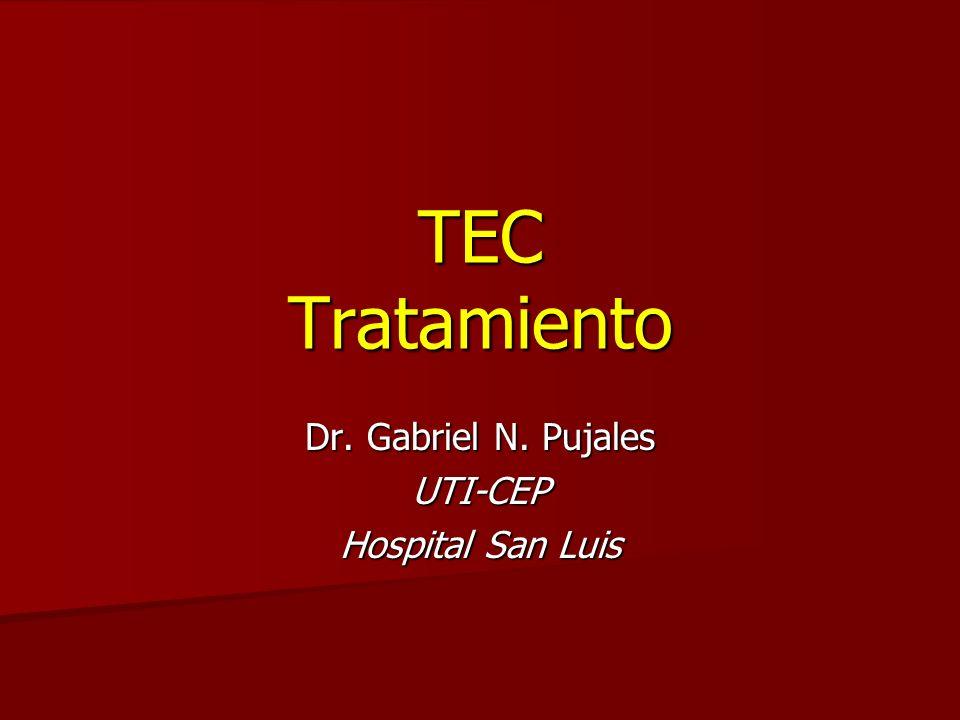 Tratamiento…..en quienes? TEC leve TEC leve TEC moderado TEC moderado TEC grave TEC grave