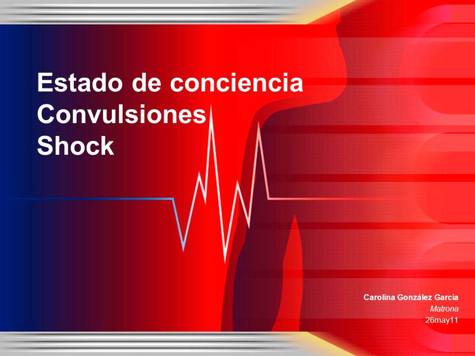 Carolina González García Matrona 26may11 Estado de conciencia Convulsiones Shock